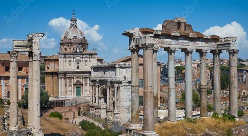 Columns of ancient Rome. Canvas Print
