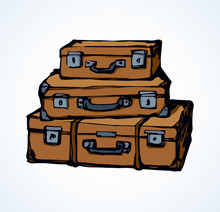 Suitcase. Vector Drawing