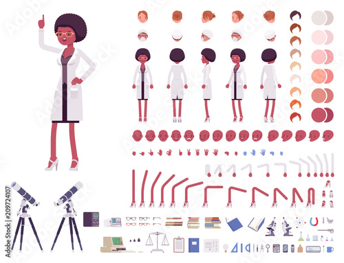 Fotografia  Female scientist character creation set