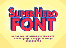 Superhero Abstract Font And Al...
