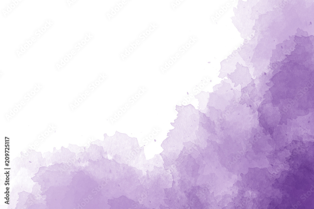 Fototapety, obrazy: Purple watercolor background