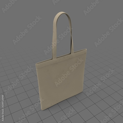 Canvas tote bag  Buy this stock 3d asset and explore similar