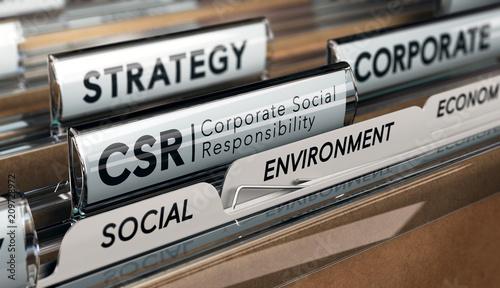 Corporate Social Responsibility, CSR Strategy Canvas Print