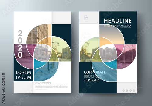 Foto  Annual report brochure flyer design template vector, Leaflet, presentation book