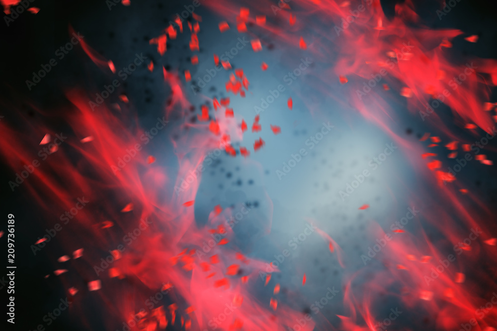 Fototapety, obrazy: Abstract red smoke background