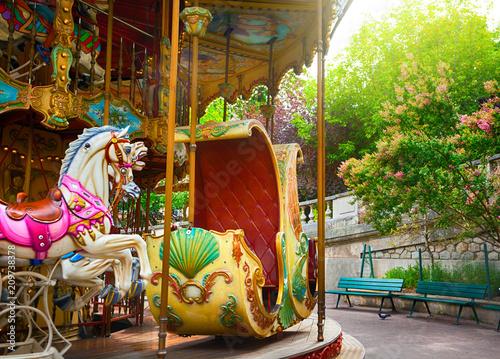 Fényképezés Merry-go-round in Paris