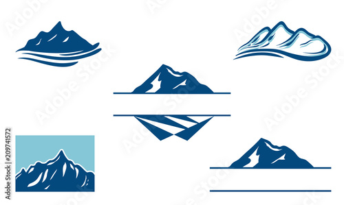 Cool Peak Mountain Logo Bundle