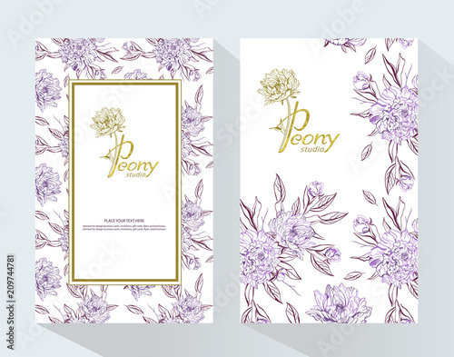 Trendy Luxury Product Branding Template With Label Peony