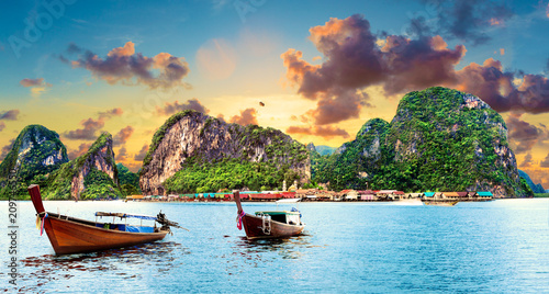 Photo  Paisaje idílico de playas y costas de Tailandia