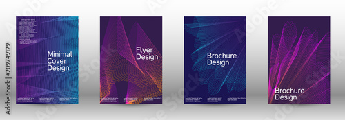 Poster Abstract wave Backgrounds with gradient linear waves.