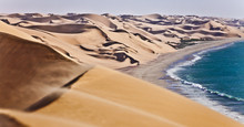 The Namib Desert Along Side Th...