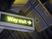 Way Out Sign In London