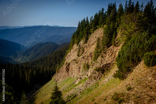 The canyon is a hell in the Carpathian Mountains Wallpaper Mural