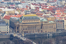 Old City Buildings And Nationa...