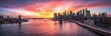 Fototapeta Nowy Jork - Manhattan und Brooklyn Bridge Panorama in New York City, USA