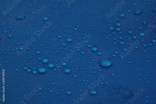 Fototapeta water drops on blue background texture obraz na płótnie