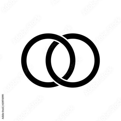 Photo  Interlocking circles, rings contour