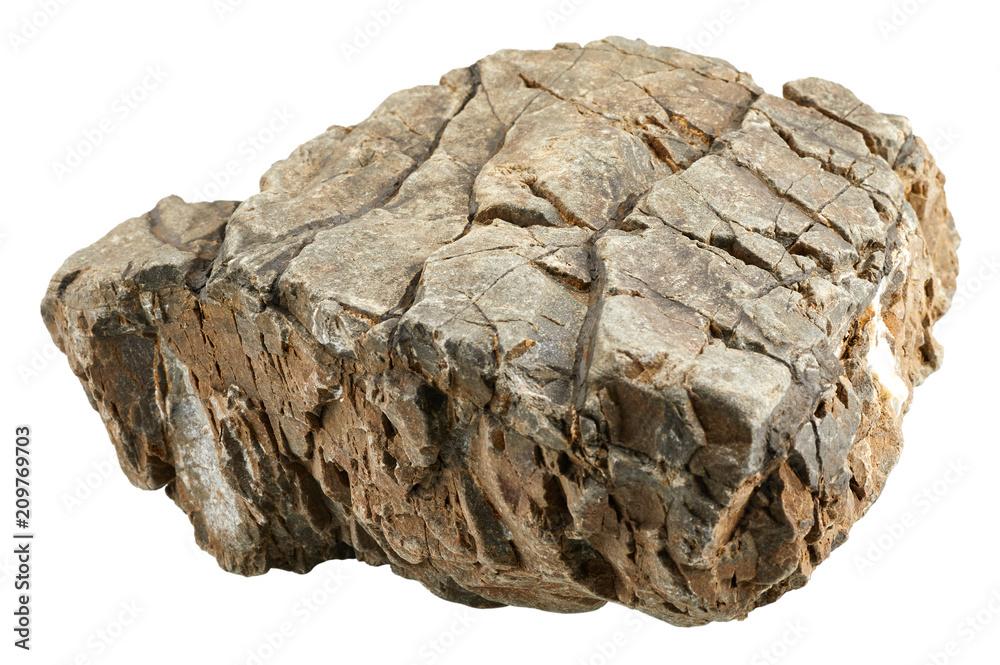 Fototapety, obrazy: Rock stone isolated on white background
