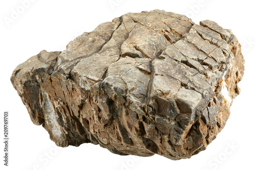 Rock stone isolated on white background - 209769703