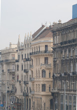 Städtische Szene In Budapest Auf Der Szabad Sajtó Útca Straße