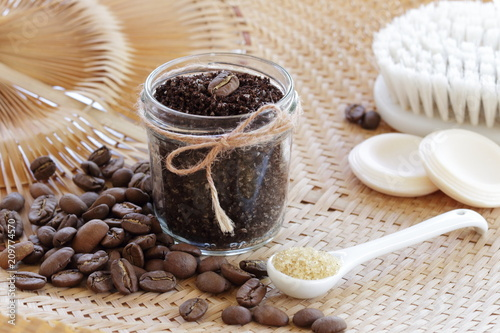 Fotografie, Obraz  Coffee scrub for skin care