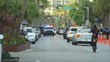 Miami beach cityscape, street view.