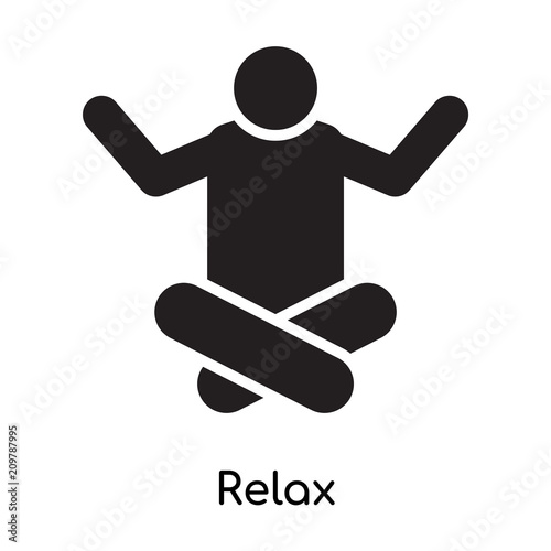 Relax Icon Vector Sign And Symbol Isolated On White Background