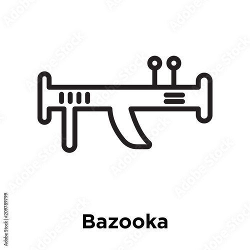 Photo Bazooka icon vector sign and symbol isolated on white background, Bazooka logo c
