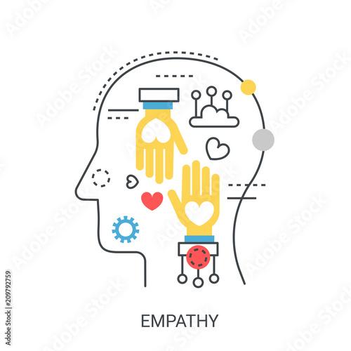 Fotografia  Empathy vector illustration concept.