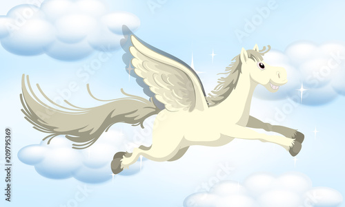 In de dag Kids A Fairy Tale Pony on Sky