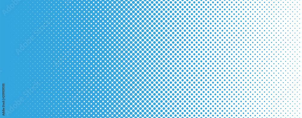 Fototapety, obrazy: Seamless Screentone Graphics_Halftone Gradation_Blue