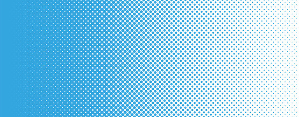 Seamless Screentone Graphics_Halftone Gradation_Blue