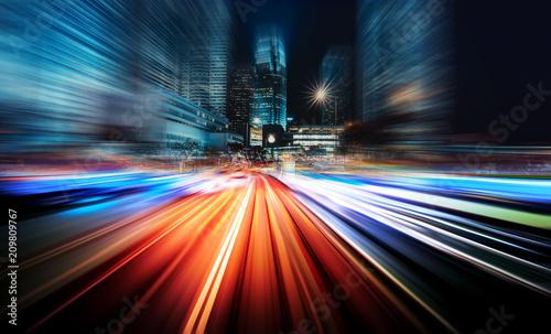 Poster Lieu connus d Asie Motion speed city background