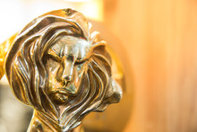 Closeup Of Gold Cannes Lion Tr...