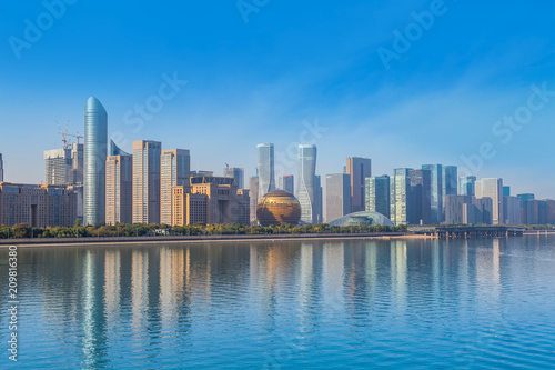 Spoed Foto op Canvas Canada Skyline of urban architectural landscape in Hangzhou