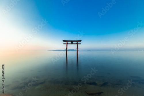 Fotografie, Obraz 琵琶湖 白髭神社