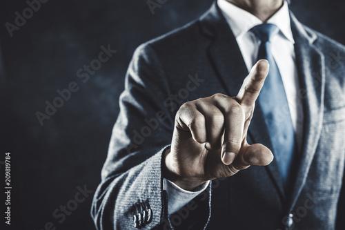 Fotografía  指をさすビジネスマン