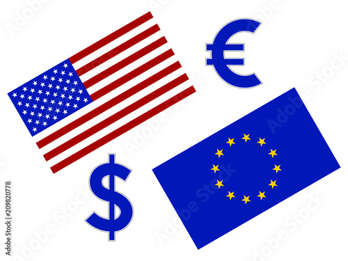 Photo EURUSD forex currency pair illustration
