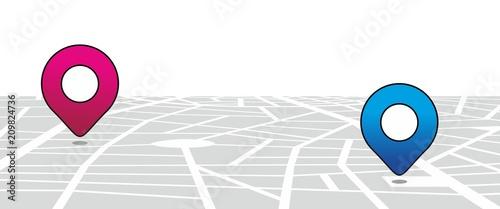 Cuadros en Lienzo  Stadtplan51906a