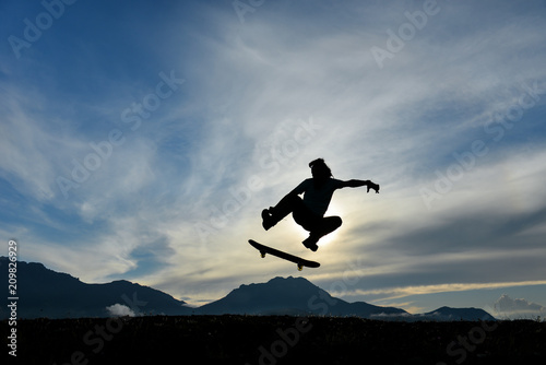 dynamic, energetic and enthusiastic skateboarding athlete