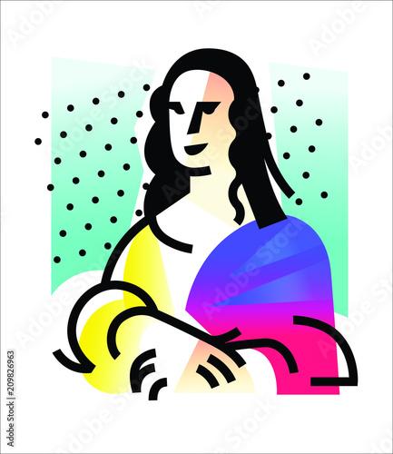 Fotomural Illustration of the Mona Lisa