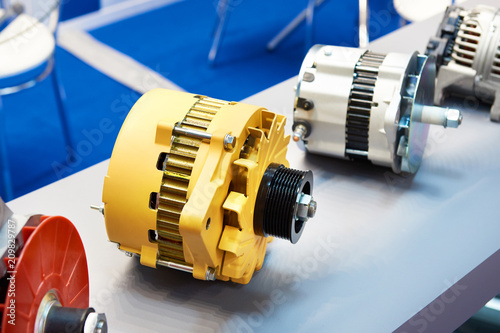 Alternator of truck cars in store Canvas Print