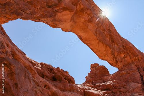 Keuken foto achterwand Rood paars Arche de pierre - Arches National Park - Utah - USA