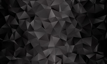 Black Polygon Background. Vect...