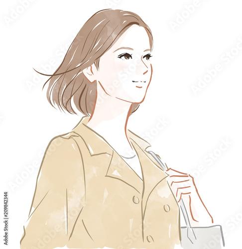 Fototapeta コートを着た女性 obraz