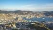 Timelapse video of Nagasaki city skyline view from Inasa Mountain in Nagasaki, Japan