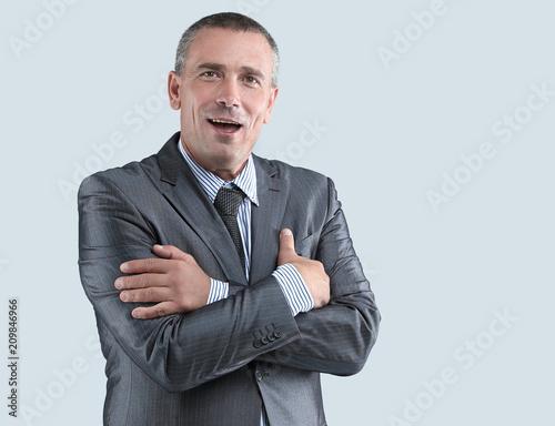 Fototapeta  face of a successful businessman