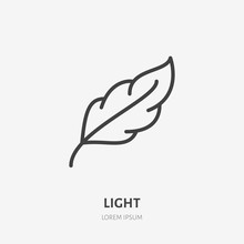 Feather Flat Line Icon. Soft, ...