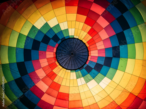 Poster Ballon Abstract background, inside colorful hot air balloon
