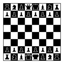 Chessboard And Chess Pieces Li...